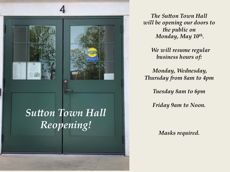 Town Hall Reopening