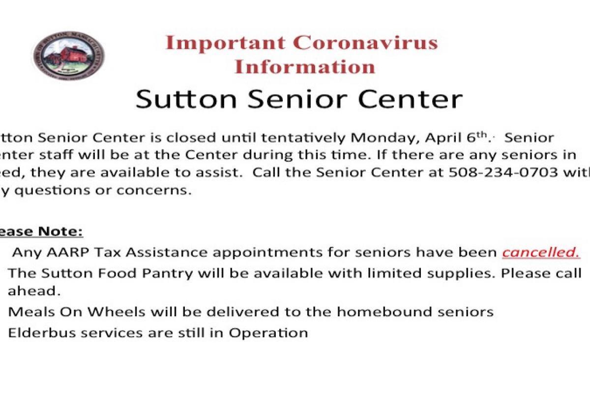 Sutton Senior Center Updates