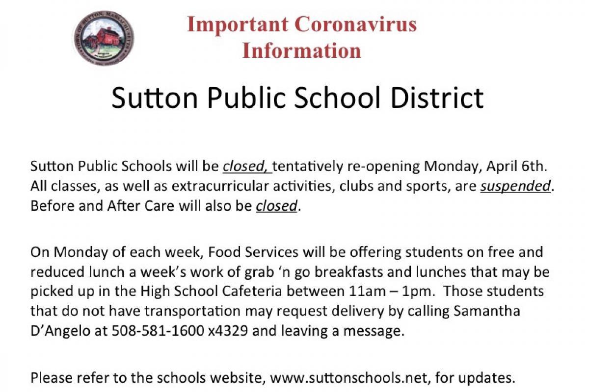Sutton School District Updates