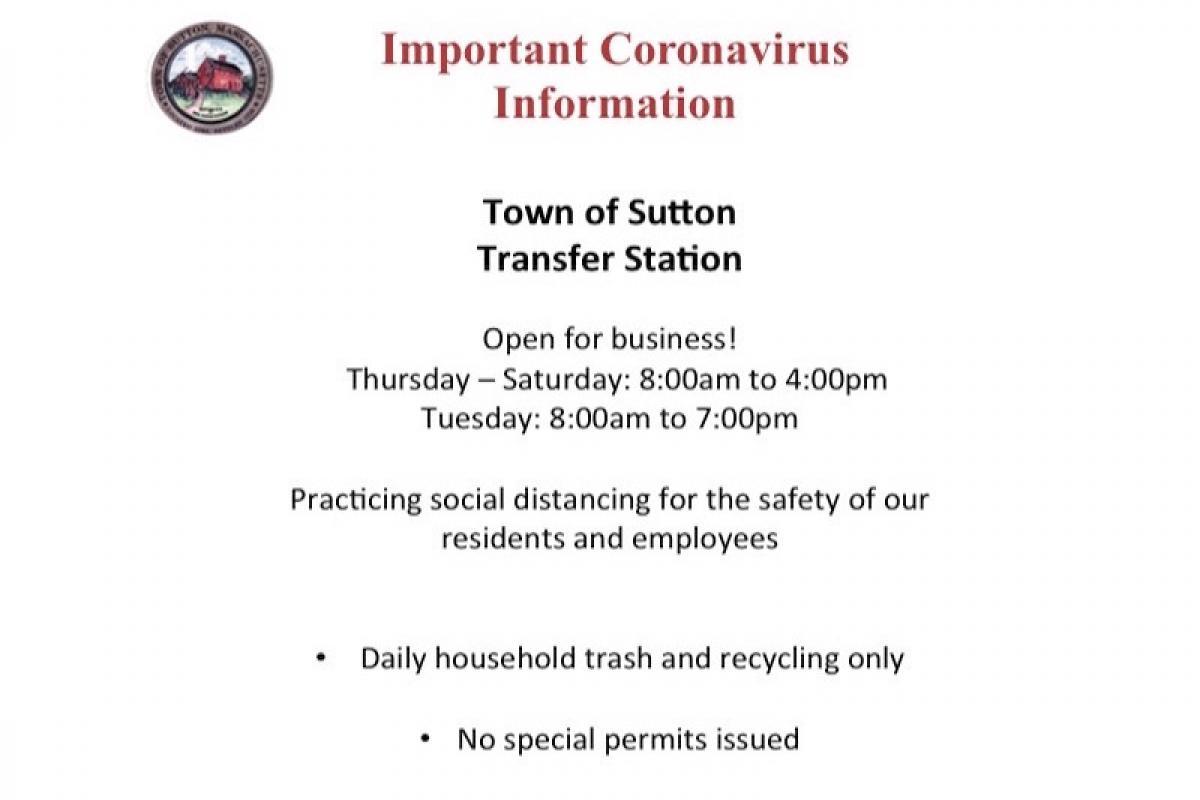 Sutton Transfer Station Updates