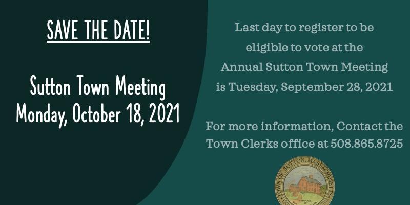 Annual Town Meeting Info