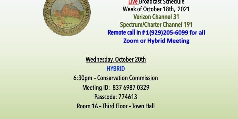 live meeting schedule